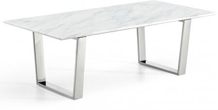 Meridian Carlton 235C Coffee and Cocktail Table Silver, Coffee Table
