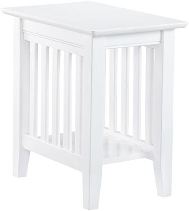 Atlantic Furniture Mission AH13202 End Table White, AH13202 SILO 30