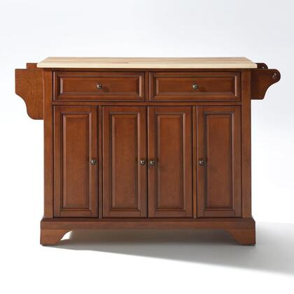 Lafayette Collection KF30001BCH Wood Top Island/Cart in Cherry