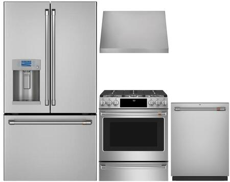 Cafe  1053233 Kitchen Appliance Package Stainless Steel, main image