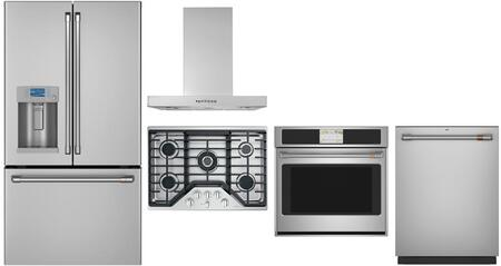 Cafe Customizable Professional Collection 1143356 Kitchen Appliance Package Stainless Steel, Main Image