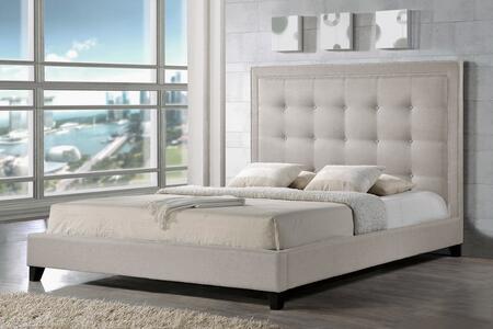 Baxton Studio Hirst BBT6377LIGHTBEIGEKING Bed Beige, BBT6377 Light%20Beige King