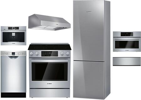 Bosch 1168252 7 piece Stainless Steel Kitchen Appliances Package
