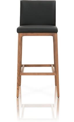 Orchard Collection 5144BS.SAB/WAL Alex Bar Height Stool with Footrest Support  Contemporary Style  Walnut Finished Solid Oak Wood Tapered Legs and