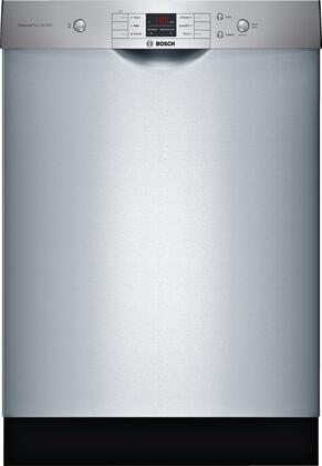 Bosch 100 Series SHEM3AY55N Built-In Dishwasher Stainless Steel, Main Image