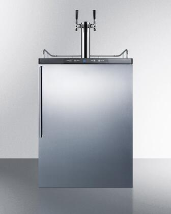 Summit  SBC635MBISSHVTWIN Beer Dispenser Stainless Steel, Main Image