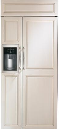 "Monogram  ZISB360DNII Side-By-Side Refrigerator Panel Ready, ZISB360DNII 36"" Smart Built-In Side-by-Side Refrigerator"