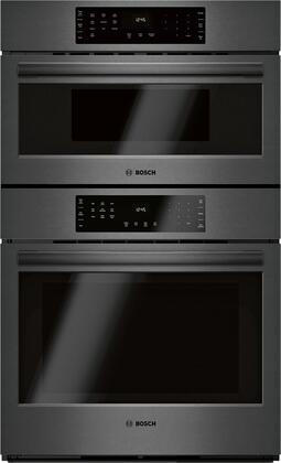 Bosch 800 Series HBL8743UC Double Wall Oven Black Stainless Steel, Main Image