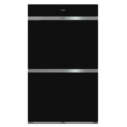 Wolf M Series DO30CMB Double Wall Oven Black, Main Image