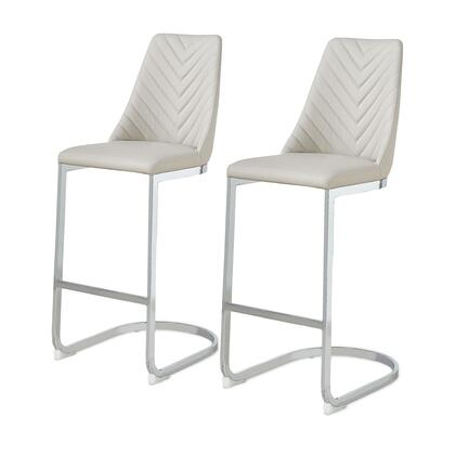 3000022-G Kyla PU Leather Bar Stool Set of 2  in