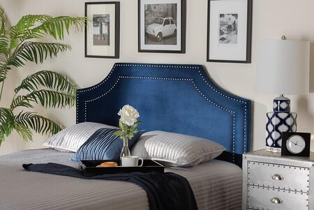 Baxton Studio Avignon BBT6566NAVYBLUEHBKING Headboard Blue, 9328 9329 9330 4