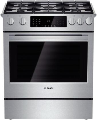 Bosch 800 Series HDI8054U Slide-In Dual Fuel Range Stainless Steel, Main Image