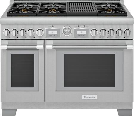 Thermador Pro Grand PRG486WLG Freestanding Gas Range Stainless Steel, Main Image