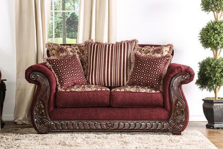 Furniture of America Tabitha SM6110LV Loveseat Red, Main Image