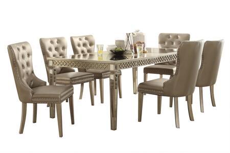 Acme Furniture Kacela 721557SET Dining Room Set Gold, Dining Set