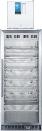 ACR1151-FS24LSTACKPRO 24″ All-Refrigerator/All Freezer Combination with Security Lock  Magnetic Door Gaskets and LED Lighting in Stainless Steel and