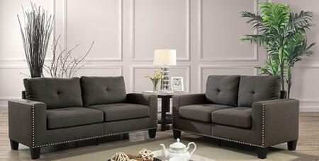 Furniture of America Attwell CM6594SFLV Living Room Set Gray, Main Image