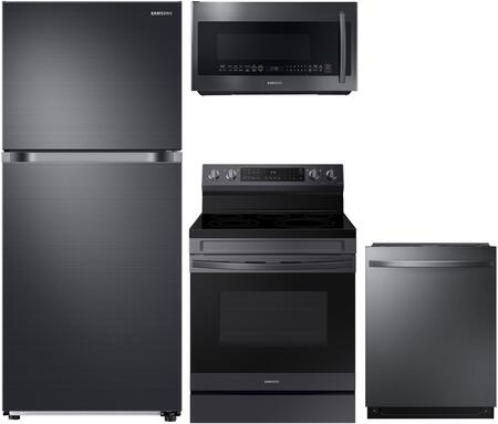 Samsung  908559 Kitchen Appliance Package Black Stainless Steel, Main Image