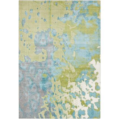 Aberdine ABE-8015 6'7″ x 9′ Rectangle Modern Rugs in Aqua  Teal  Olive  Medium Gray