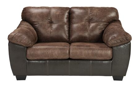 Signature Design by Ashley Gregale 9160335 Loveseat Brown, Main Image
