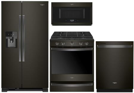Whirlpool  1010005 Kitchen Appliance Package Black Stainless Steel, main image