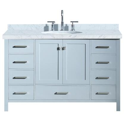Ariel Cambridge A055SVOGRY Sink Vanity Gray, A055S-VO-GRY front