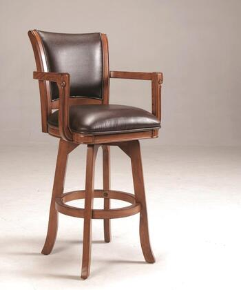 4186-830 Parkview 45 Bonded Leather Upholstered Swivel Bar Stool with Climate Controlled Wood Frame in Brown