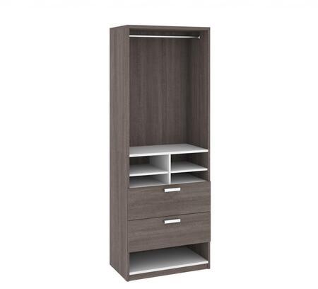 Bestar Furniture Cielo 8086347 Wardrobe Gray, 80863-47
