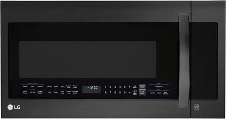 LG LMVM2033BM Over The Range Microwave Black Stainless Steel, Main Image