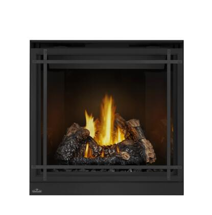 Napoleon High Definition HD35NT1 Fireplace Black, Logs, Black Safety Barrier Straight Accents, PRRP