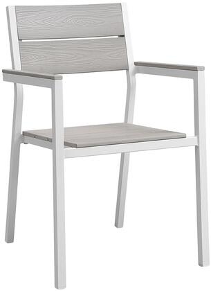Modway Maine EEI1506WHILGR Patio Chair White, Main Image