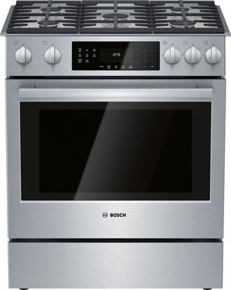 HGI8056UC 30″ 800 Series Slide In Gas Range with 5 Sealed Burners  4.8 cu. ft. Oven Capacity  Heavy Duty Metal Knobs  Warming Drawer  Convection