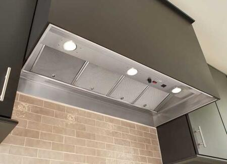"""RMIP45 45"""" Pro-Style Hood Insert with 1500 CFM Capable (Blower Not Included) 3 Dishwasher Safe Mesh Filters 3 Halogen Lights and Infinitely"""