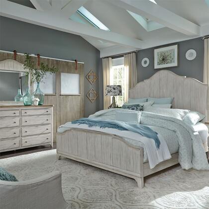 Liberty Furniture Farmhouse Reimagined 652BRQPBDM Bedroom Set White, 652 br qpbdm