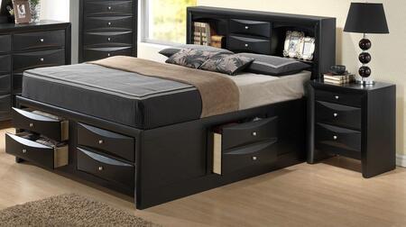 Glory Furniture G1500G G1500GFSB3N Bedroom Set Black, Main Image