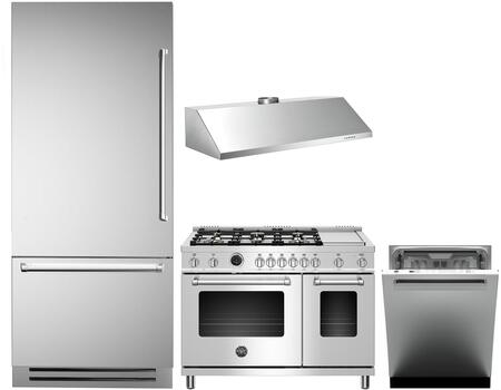 Bertazzoni  1051477 Kitchen Appliance Package Stainless Steel, main image