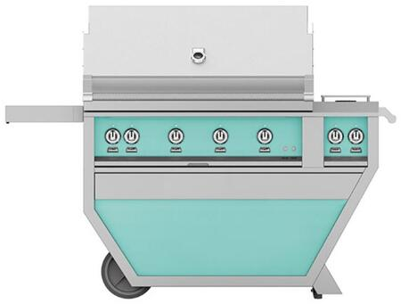 Hestan GABR42CX2NGTQ Natural Gas Grill Green, Front View