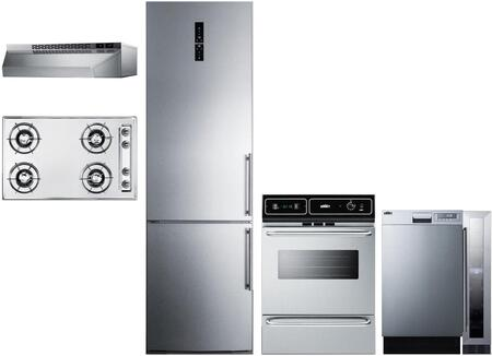 Summit  1114291 Kitchen Appliance Package Stainless Steel, Main image