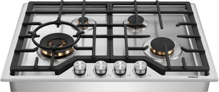 G413 30″ Gas Cooktop with 4 Italian-Made DEFENDI (Pure Copper)Burners  Failure System  Matte Cast Iron Grates  Natural Gas Or Liquid propane gaz