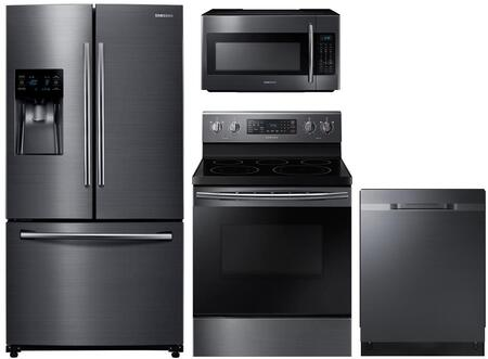 Samsung 1130927 Kitchen Appliance Package & Bundle Black Stainless Steel, main image