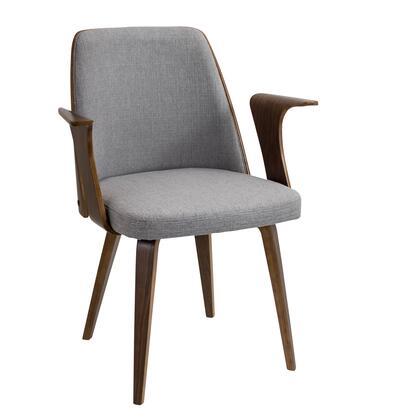 LumiSource Verdana CHVRDNAWLGY Accent Chair Gray, mage 1