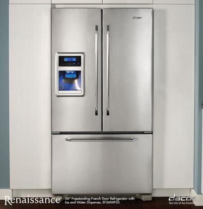 Dacor Renaissance EF36IWFSS French Door Refrigerator Stainless Steel, 1