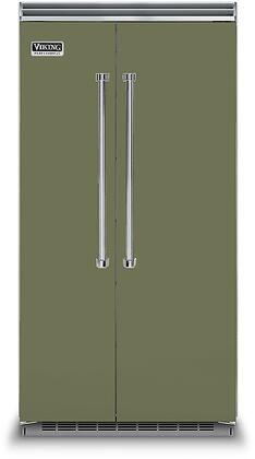 Viking 5 Series VCSB5423CY Side-By-Side Refrigerator Green, VCSB5423CY Side-by-Side Refrigerator
