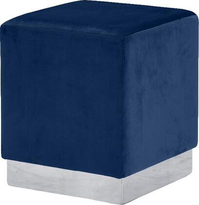 Meridian Jax Series 135Navy Living Room Ottoman Blue, Main Image