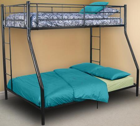 Walker Edison Sunset BTODBL Bed Black, 1