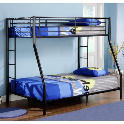 Walker Edison Sunset BTODBL Bed Black, Image 1