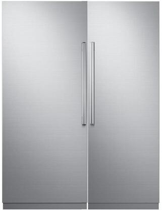 Dacor Modernist 772321 Column Refrigerator & Freezer Set Silver Stainless Steel, 1