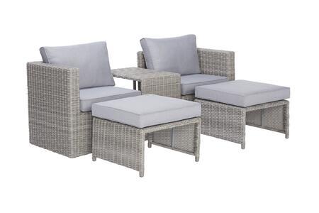 I716-24 Malibu 5 Piece Outdoor Seating Set in