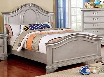 Furniture of America Claudia CM7199XBED Bed Gray, 1