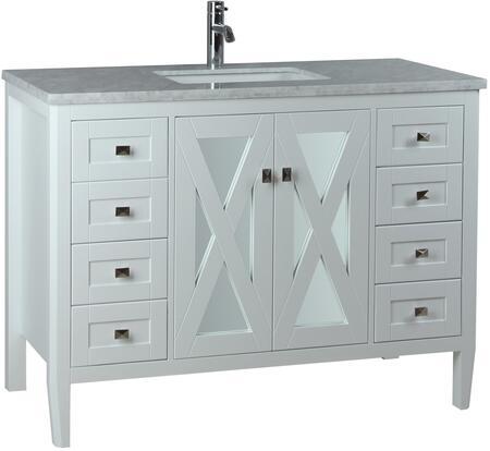 Reflection Collection MTD-7148W 48″ Single Sink Bathroom Vanity Set in